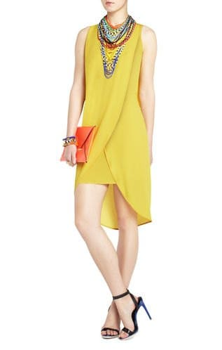 Audrey Yellow Wrap Gown