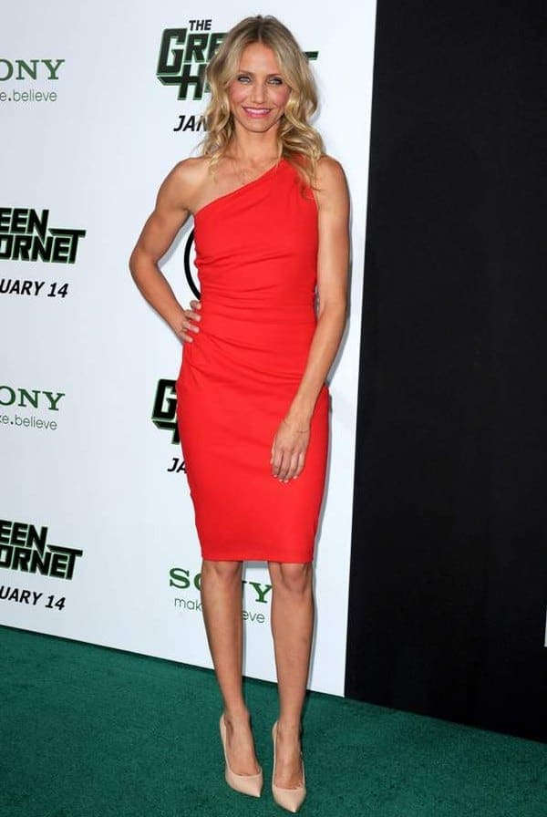 Rock a Little Red Dress like Cameron Diaz: Look for Less