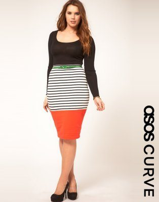 Color block plus size