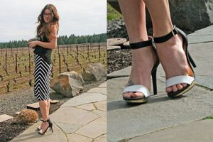 Bloggers and Strappy Sandals