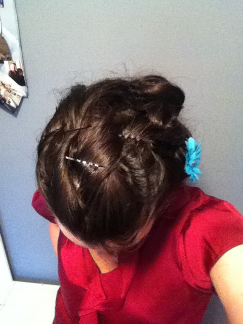 Pinned and curled updo