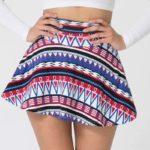 Russian Circus Printed Cotton Spandex Jersey High-Waist Skirt