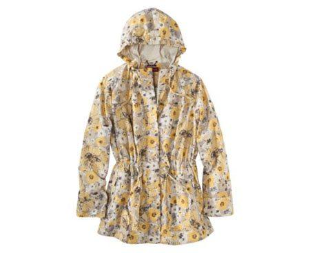 Women's Plus-Size Hooded Rain Jacket