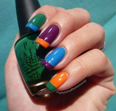 Colorblock Nail Polish