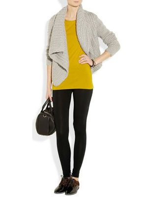 outfit of leggings and sweater