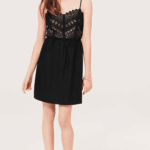 black cami dress