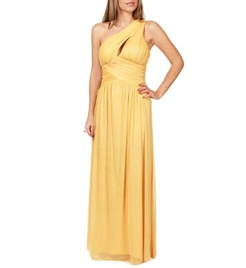 Yellow prom gown