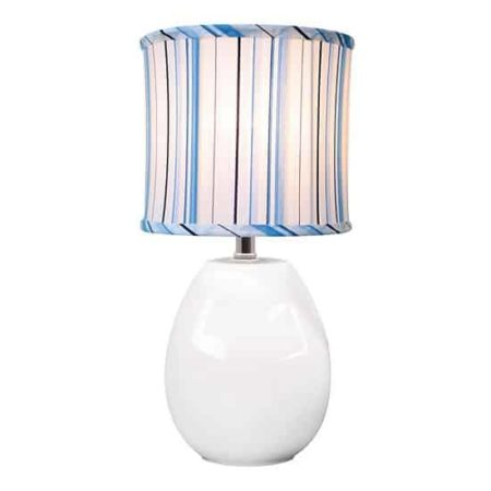 lamp with striped shade