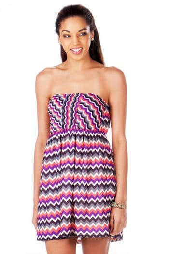 Marion Chevron dress