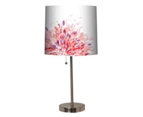 Table lamp with floral shade