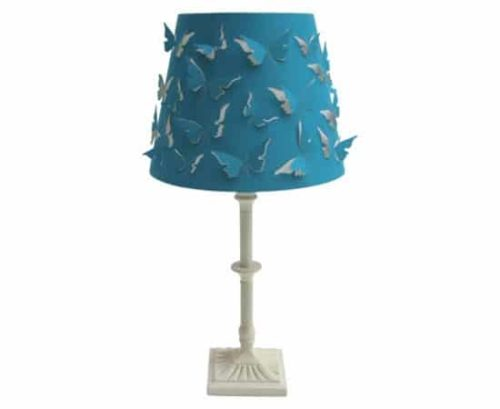 Lamp with butterfly design