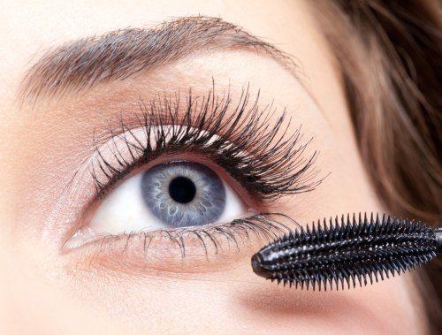 Apply false lashes