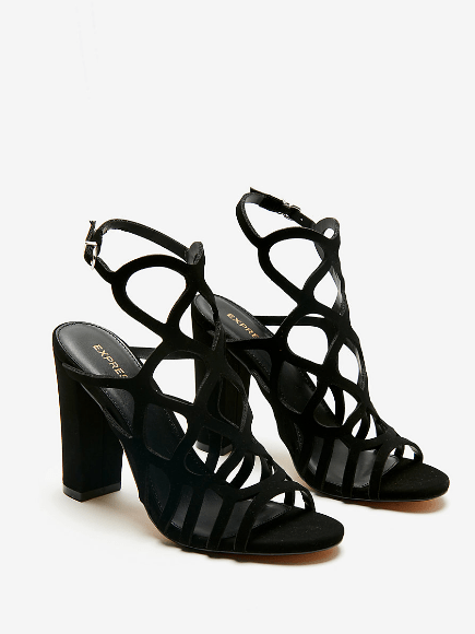 cutout sandals with heels