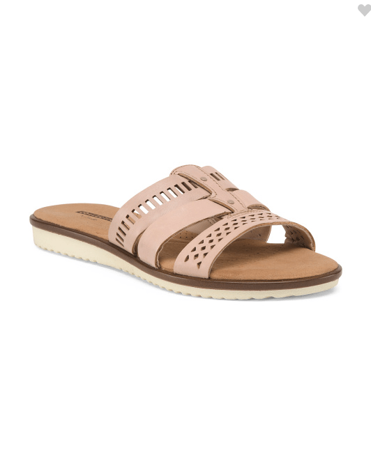 cutout leather slides