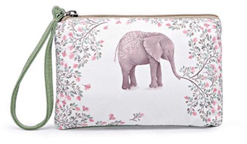 Elephant print wristlet