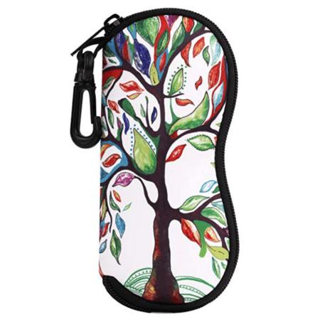 tree design eyeglass case