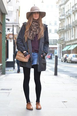oxford with shorts and tights
