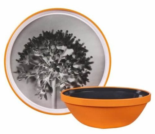 Plates with tree design