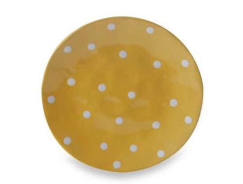 Yellow plate with polka dot