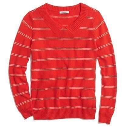 Striped Collar Sweater, $49.99 available at madewell.com