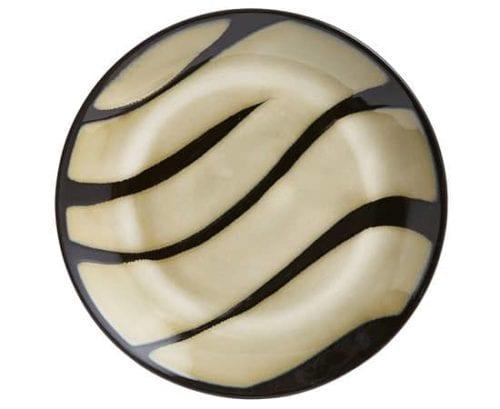 Zebra design plate