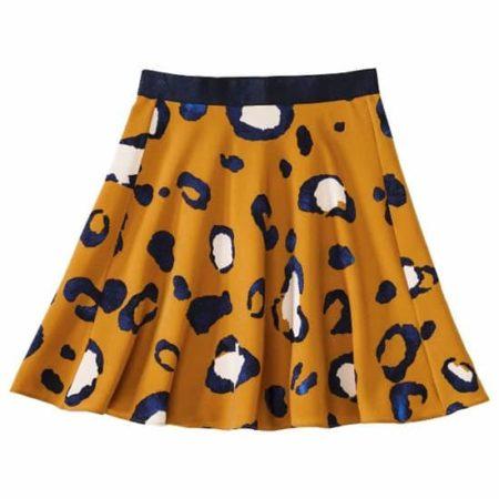 Short, animal print skirt