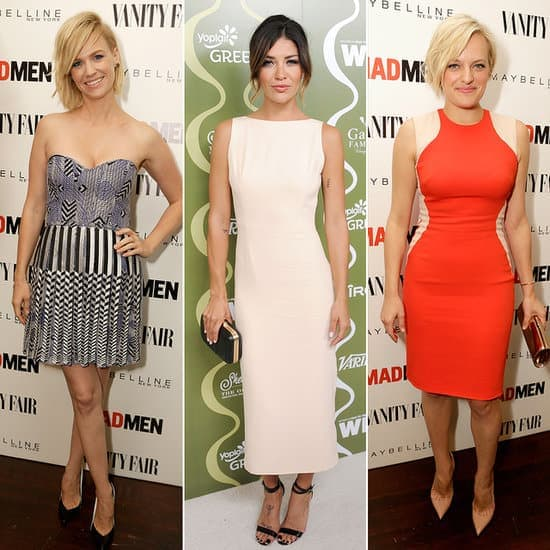 The 2013 Emmys:  Hmmm.  Varying hemline choices could indicate economic optimism - and there's certainly a range here!