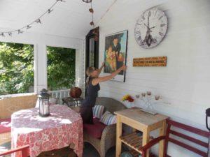 Courtney Lochner porch art