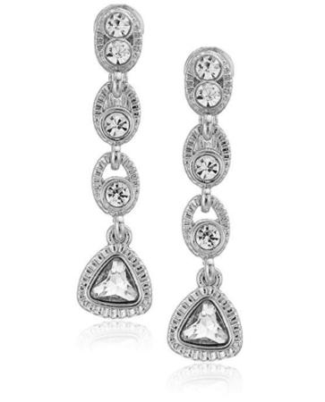 Clip on silver earrings