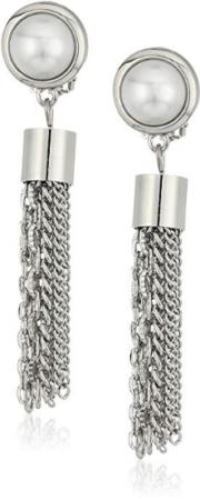 Dangling clip-on earrings