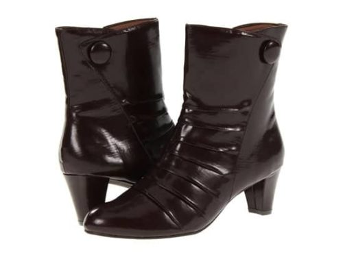 Shiny black ankle boots