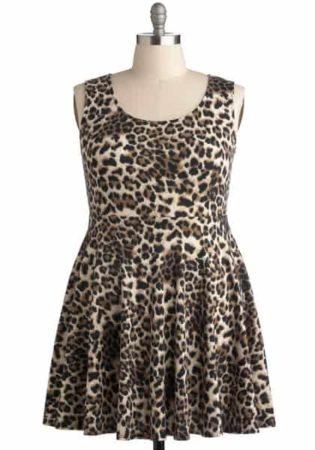 Short, animal print dress