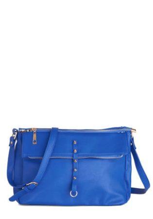 Royal blue handbag