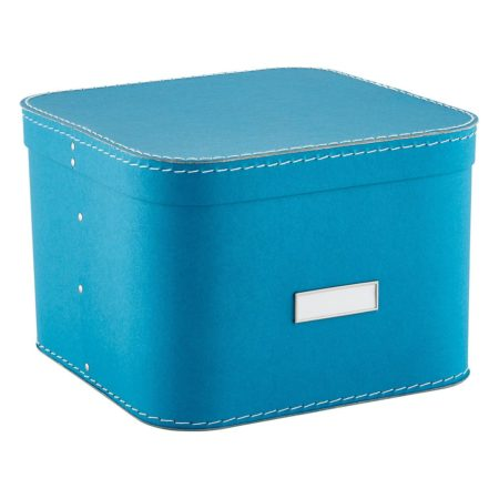 Closet organization ideas: Turquoise closet storage box