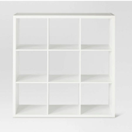 White cube storage for closets