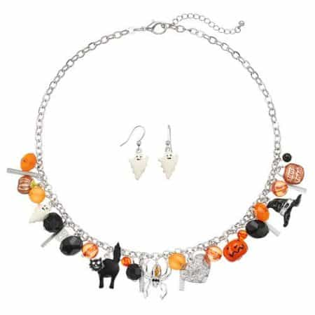 halloween style - halloween themed choker and earrings