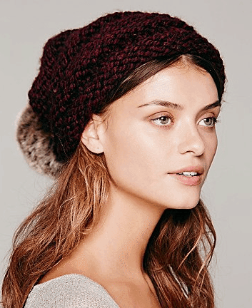 Mars Slouchy Pom Pom Beanie, $48 available at freepeople.com