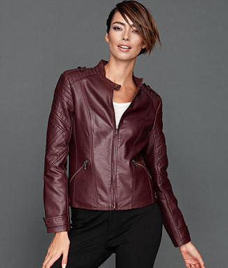INC International Concepts Jacket, Faux-Leather Channel-Quilt Moto, Sale $89.99