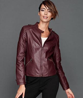 INC International Concepts Jacket, Faux-Leather Channel-Quilt Moto, Sale $89.99