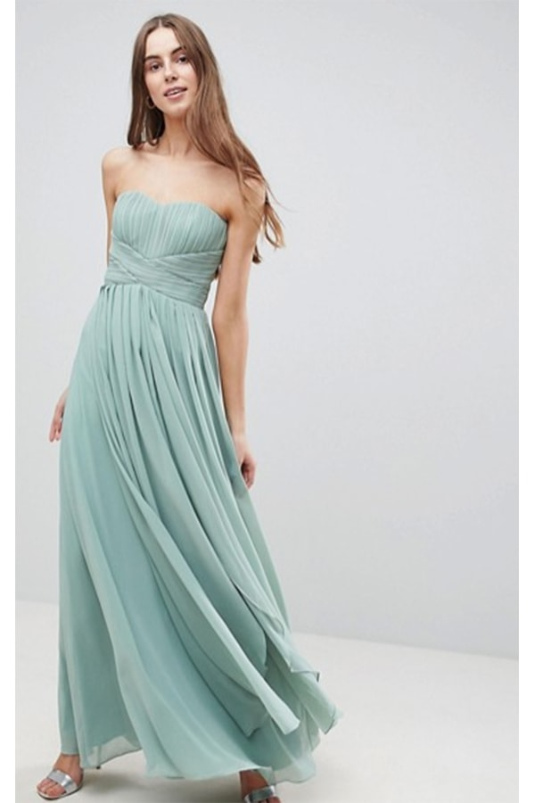 Mint green flowing dress