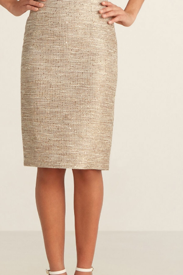 Gold tweed skirt