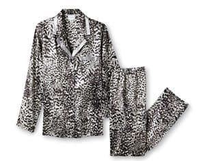 Jaclyn Smith  Women's Pajama Top & Pants - Leopard Print