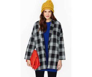 Kissell Plaid Coat