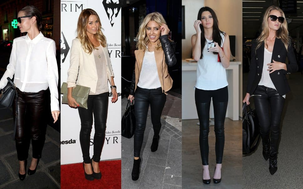 Celebrities and Leather Pants