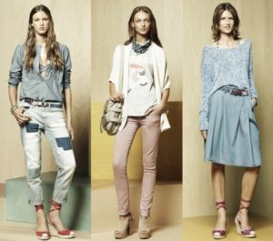 gap-spring-2012-patchwork-denim-pants-muted-pink-skinny-jeans-pleated-denim-skirt