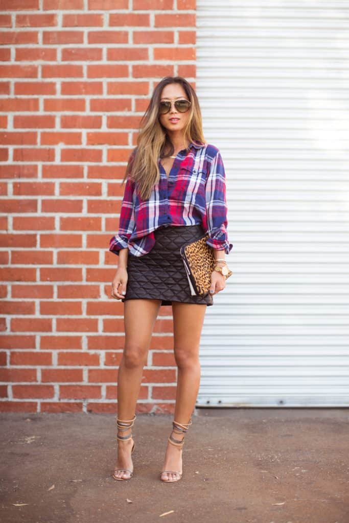 Plaid and Leather: Why We Love This Look