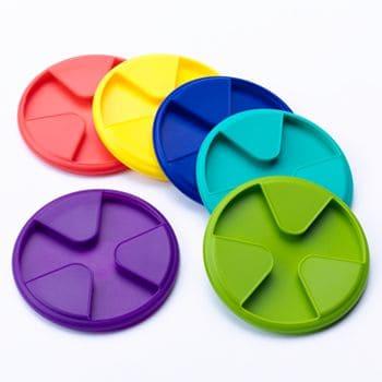 Colored coasters