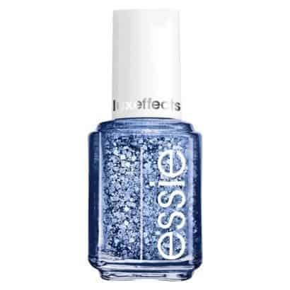 Sparkly blue nail polish