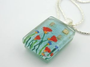 Etsy Fused Glass Pendant