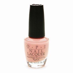 Pale pink nail polish